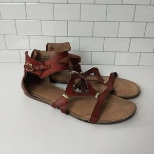 Dune London cammy gladiator sandal size 8